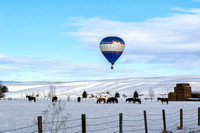Hot Air Balloon over Bozeman